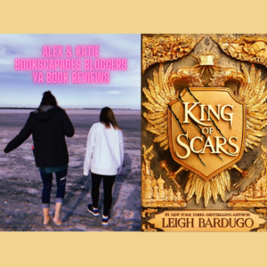 Katie and Alex with reviewed book King of scars
