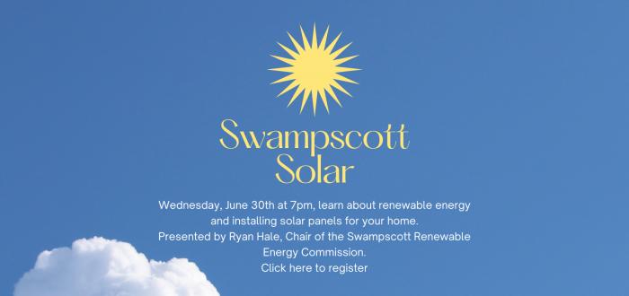 Swampscott Solar panel discussion register