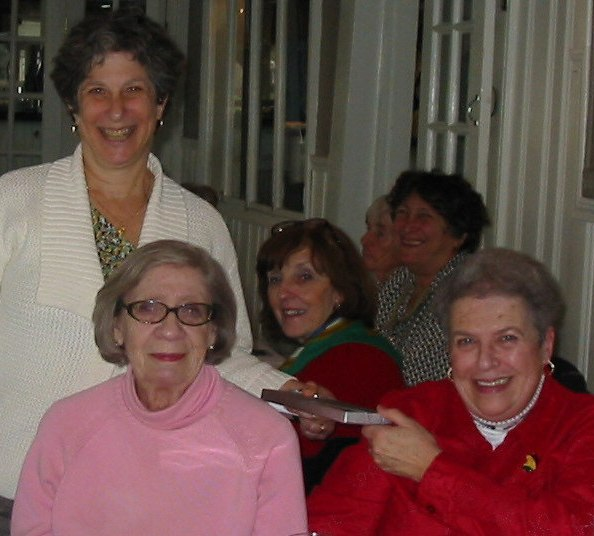 Ellen Winkler, President of the Friends, Harriet Weinstein & Jackie Downs